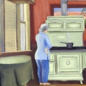 The Old Schoolhouse Cook Stove by Mary Hollinger