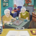 The Scrabble Game by Mary Hollinger