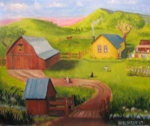 idyllic farm