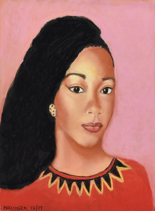 Portrait of my African friend by Mary Hollinger